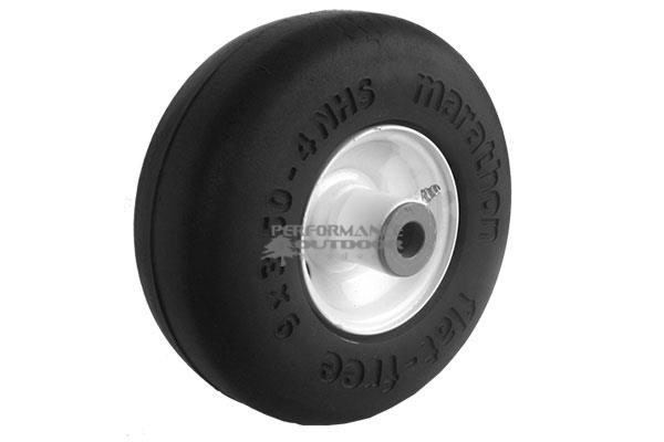 9x350-4 Slick Tread Wheel Assembly